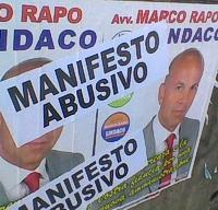 manifesti abusivi di rapo a Marino