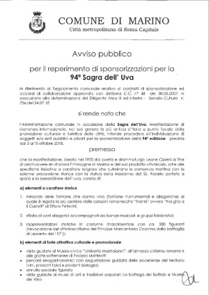 thumbnail of BANDO SPONSOR 94 Sagra dell'Uva 2018