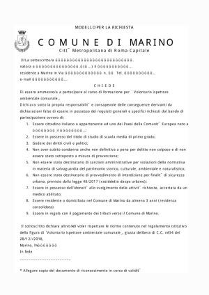 thumbnail of ispettori ambientali – modulo domanda