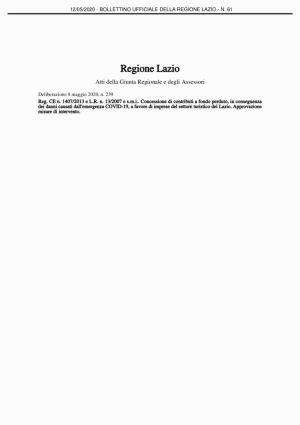 thumbnail of delibera giunta regionale 239 dell 8 maggio 2020 turismo
