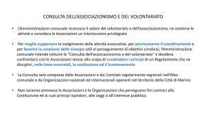 thumbnail of Presentazione Consulta associazioni